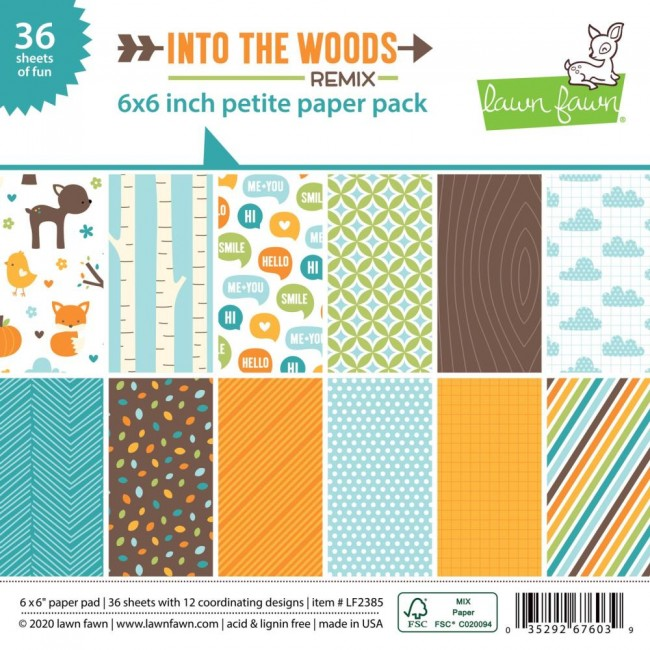 Stack Papiers Imprimés Recto 6x6 Into The Woods