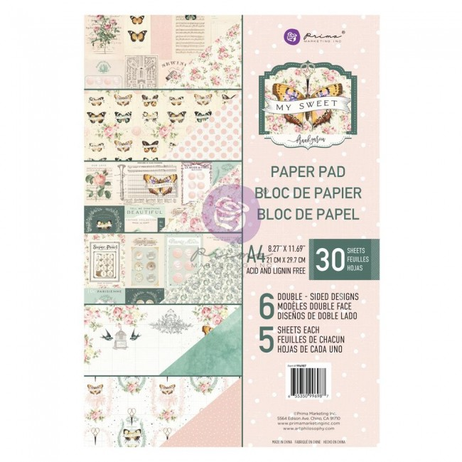 Stack Papiers Imprimés Recto-verso A4 My Sweet By Frank Garcia