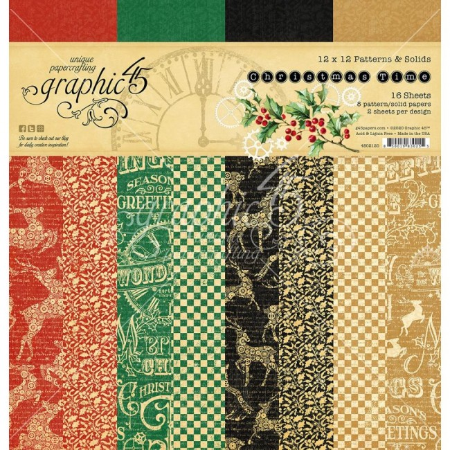 Stack Papiers Basiques 12x12 Christmas Time