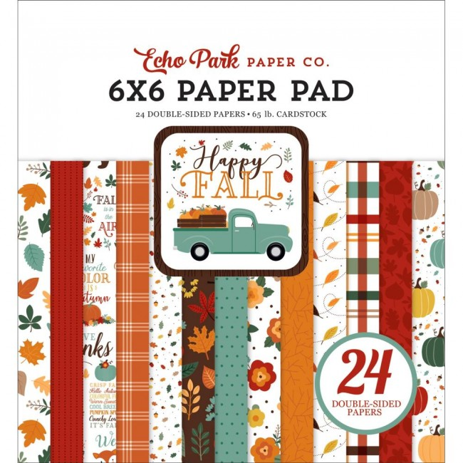 Stack Papiers Imprimés 6x6 Happy Fall