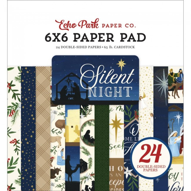 Stack Papiers Imprimés 6x6 Silent Night