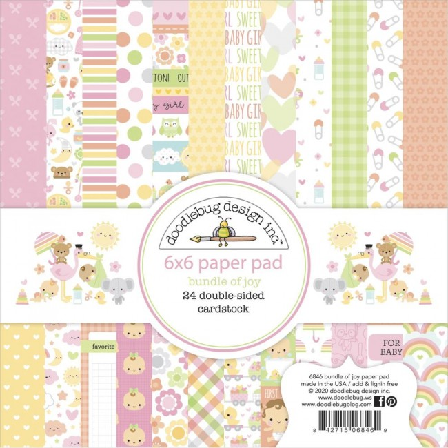 Stack Papiers Imprimés Recto 6x6 Bundle Of Joy DO