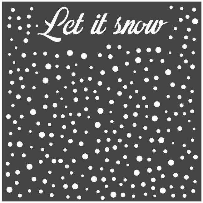 "Pochoir 7"" x 7"" Pink Christmas Let's snow"