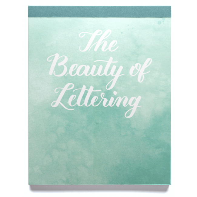 Cahier d'exercices Lettering Kelly Creates Bloc de citations Beauty of Lettering