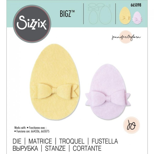 Matrice de Découpe Bigz Easter Egg by Jennifer Ogborn