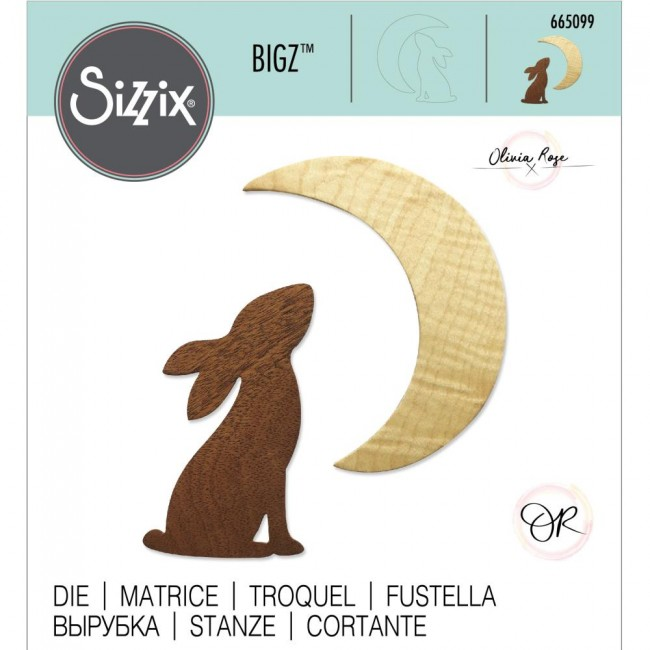 Matrice de Découpe Bigz Rabbit & Moon by Olivia Rose