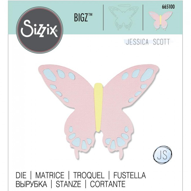 Matrice de Découpe Bigz Willow Butterfly by Jessica Scott