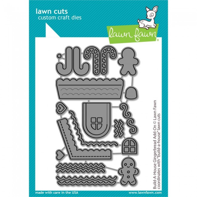 Matrice de Découpe Lawn Cuts Build-A-House Gingerbread Add-On
