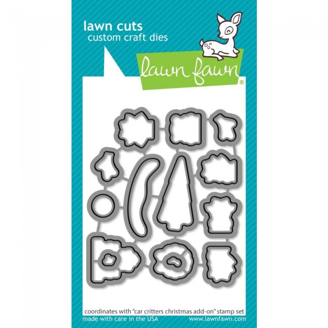 Matrice de Découpe Lawn Cuts Car Critters Christmas Add-On