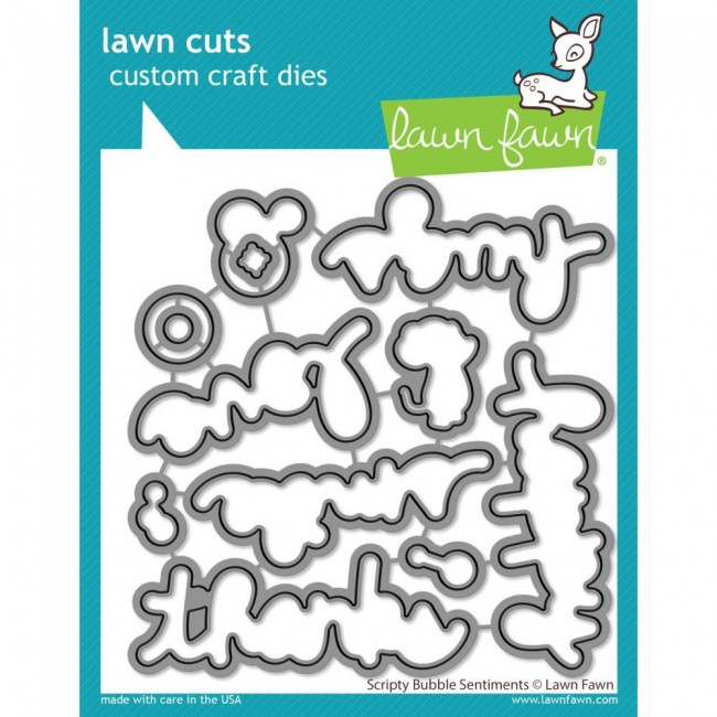 Matrice de Découpe Lawn Cuts Scripty Bubble Sentiments