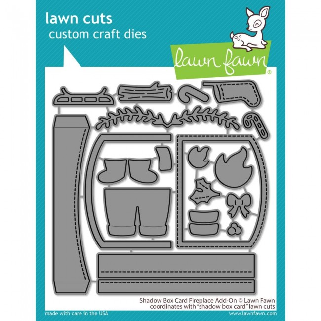 Matrice de Découpe Lawn Cuts Shadow Box Card Fireplace Add-On