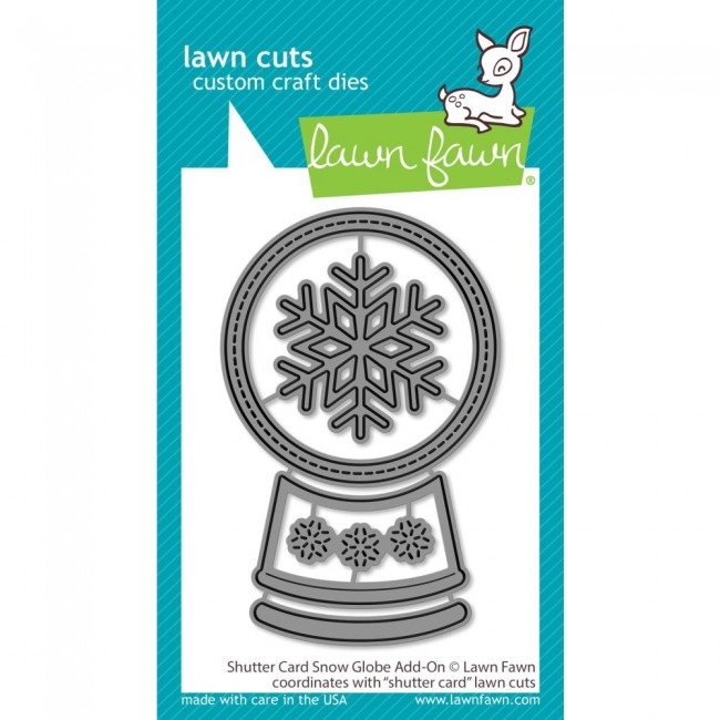 Matrice de Découpe Lawn Cuts Shutter Card Snow Globe Add-On