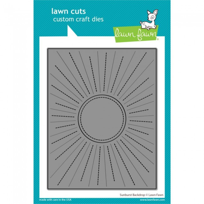 Matrice de Découpe Lawn Cuts Sunburst Backdrop