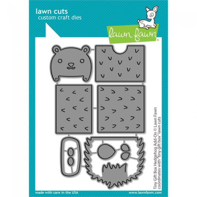 Matrice de Découpe Lawn Cuts Tiny Gift Box Hedgehog Add-On