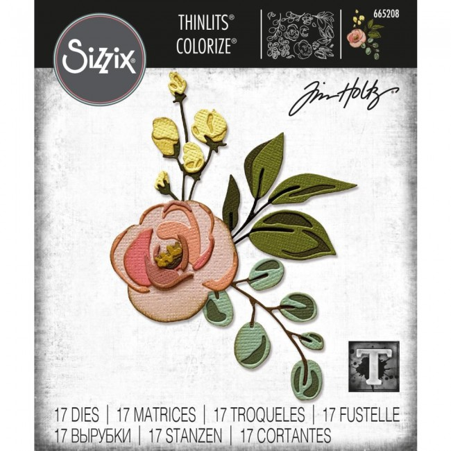 Matrice de Découpe Thinlits Bloom Colorize by Tim Holtz