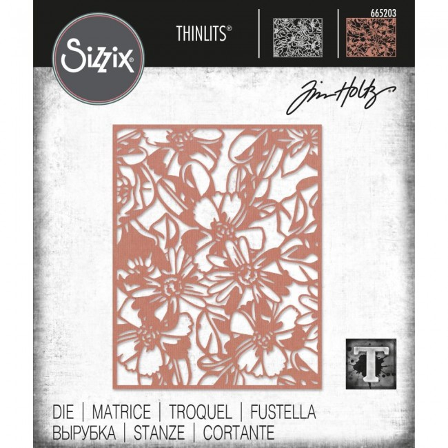 Matrice de Découpe Thinlits Flowery by Tim Holtz
