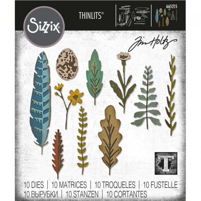 Matrice de Découpe Thinlits Funky Nature by Tim Holtz