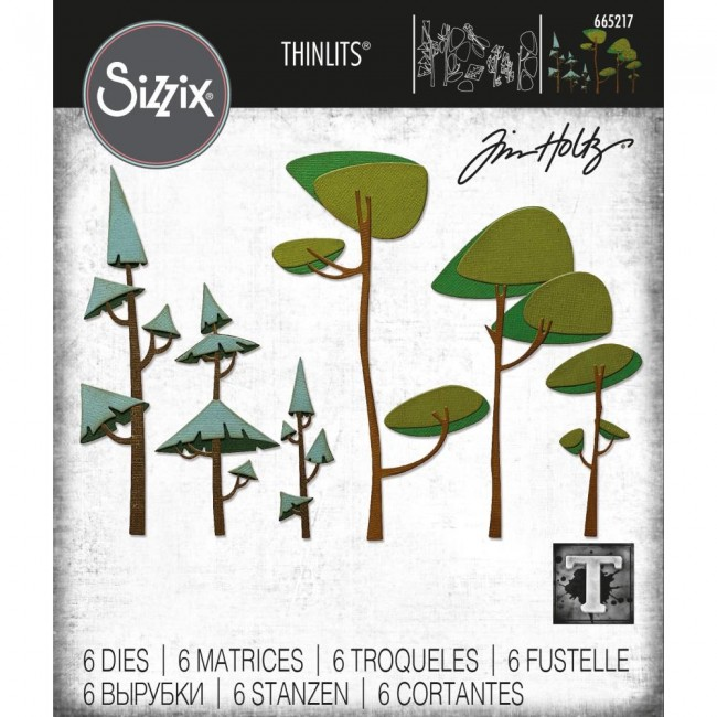 Matrice de Découpe Thinlits Funky Trees by Tim Holtz