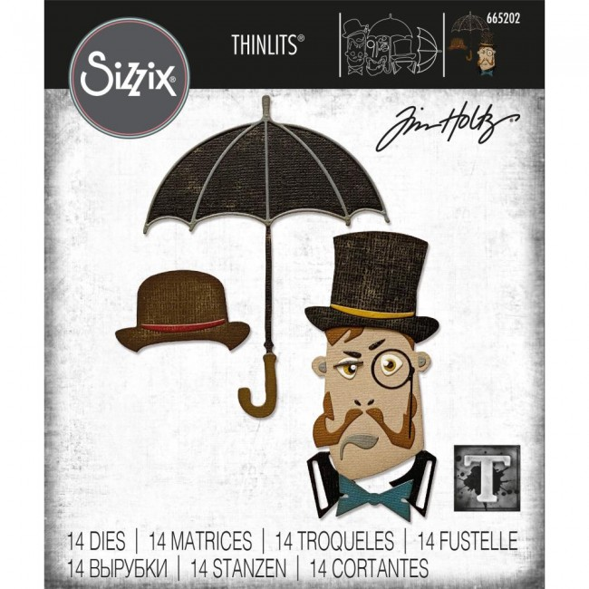 Matrice de Découpe Thinlits The Gent by Tim Holtz