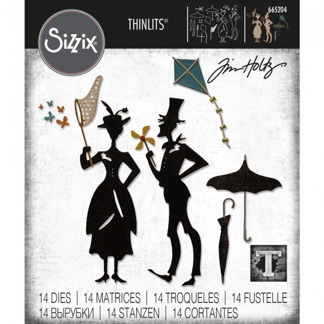 Matrice de Découpe Thinlits The Park by Tim Holtz