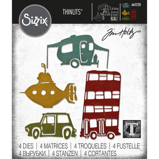 Matrice de Découpe Thinlits Wacky Transport #1 by Tim Holtz