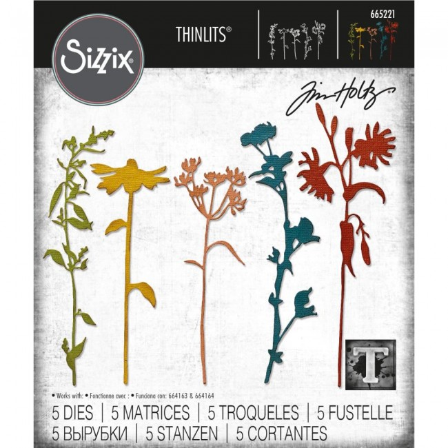 Matrice de Découpe Thinlits Wildflower Stems #3 by Tim Holtz