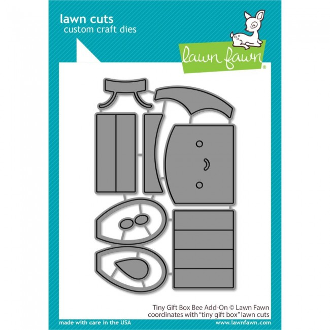 Matrice de Découpe Lawn Cuts Tiny Gift Box Bee Add-On