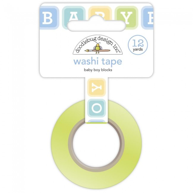 Washi Tape Special Delivery DO Baby Boy Blocks