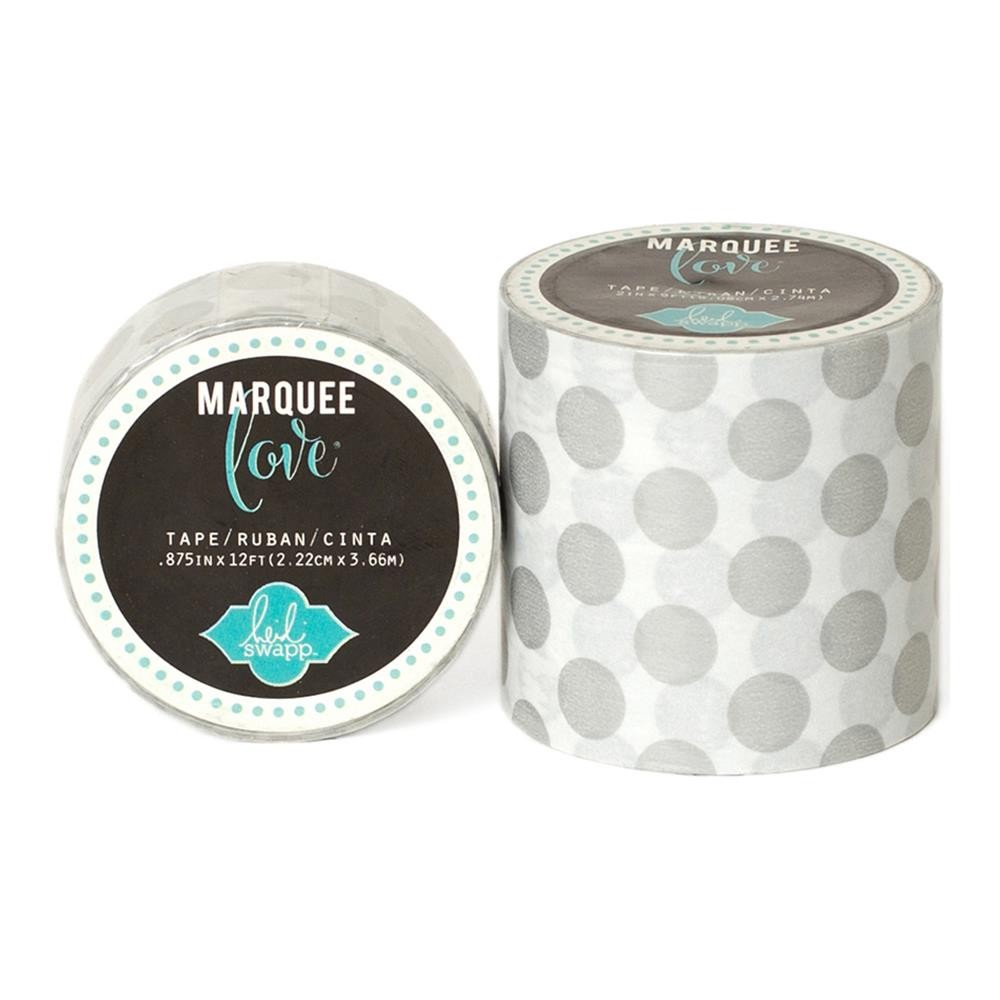 Marquee Washi Silver Polka Dot S