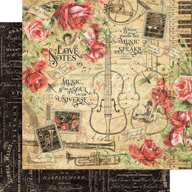 GRAPHIC 45 ~ LOVE NOTES ~ Chipboard Die Cuts