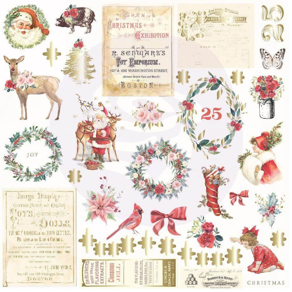Die Cuts Christmas In The Country 42 pièces Shapes, Tags, Words