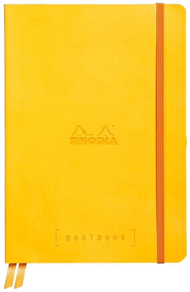 Cahier à Points A5 Rhodia GoalBook - Jaune