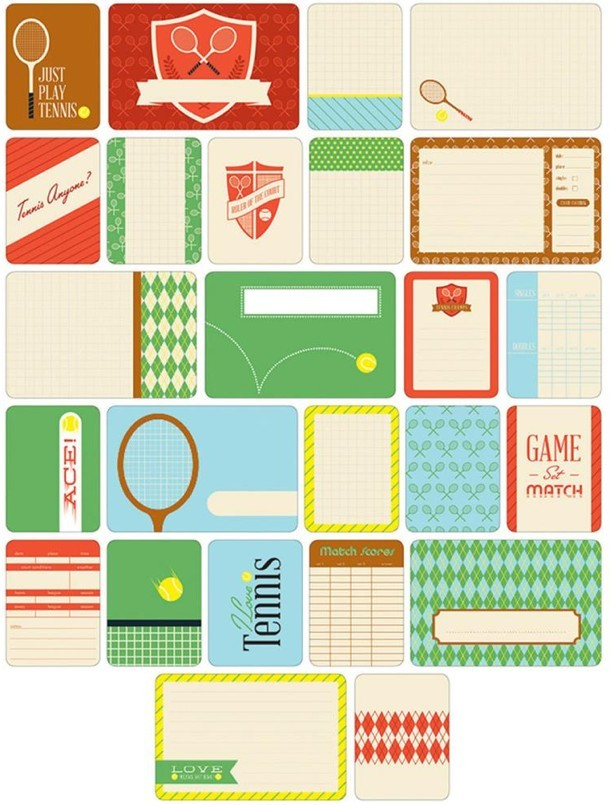 Themed Cards Tennis