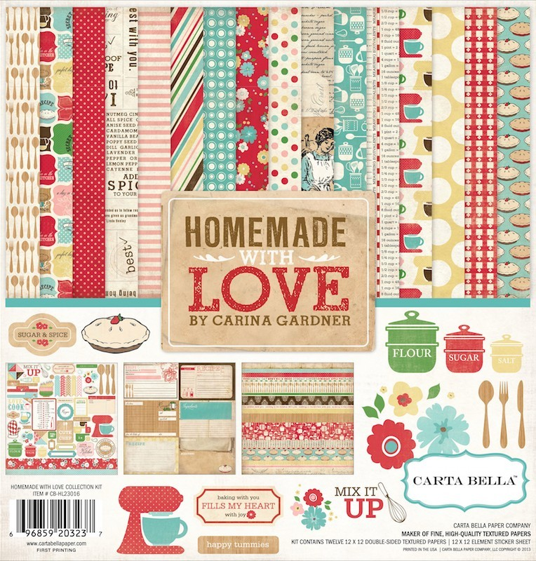 Kit Papiers Imprimés 12x12 Homemade With Love