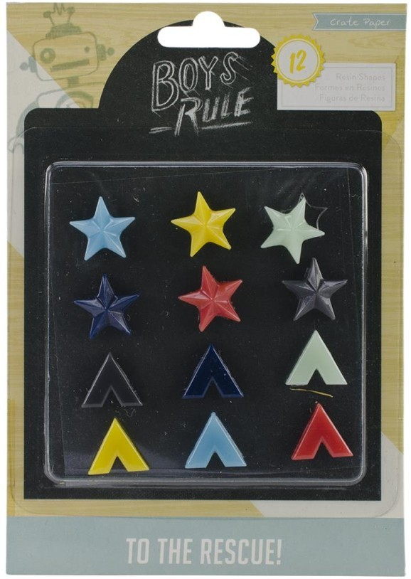 Boys Rule Resin Shapes