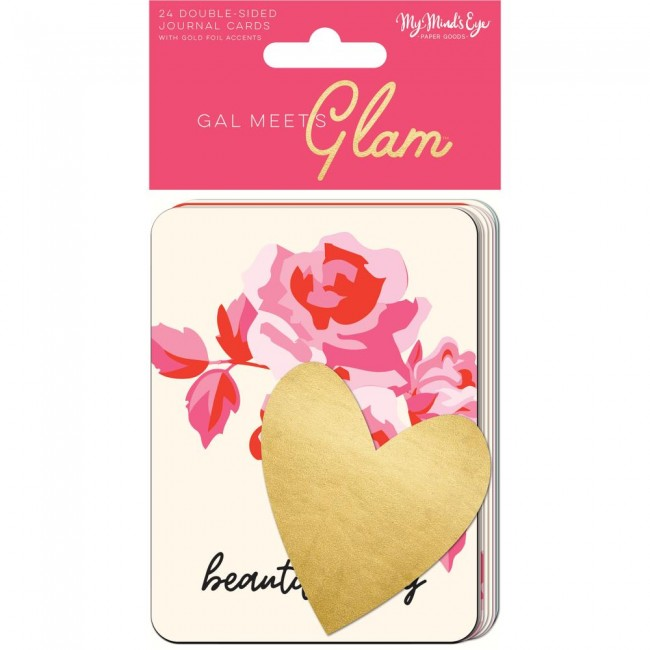 "Cartes Project Life Gal Meets Glam 3""X4"""