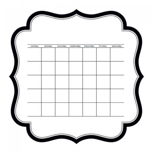Acétate 12x12 - Color Chaos - Calendar Die - Cut Sheet