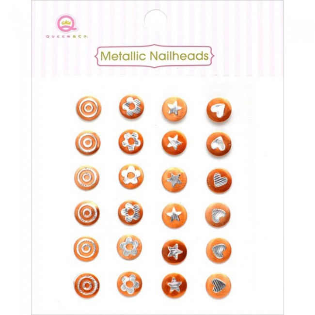 Metallic Nailheads Orange