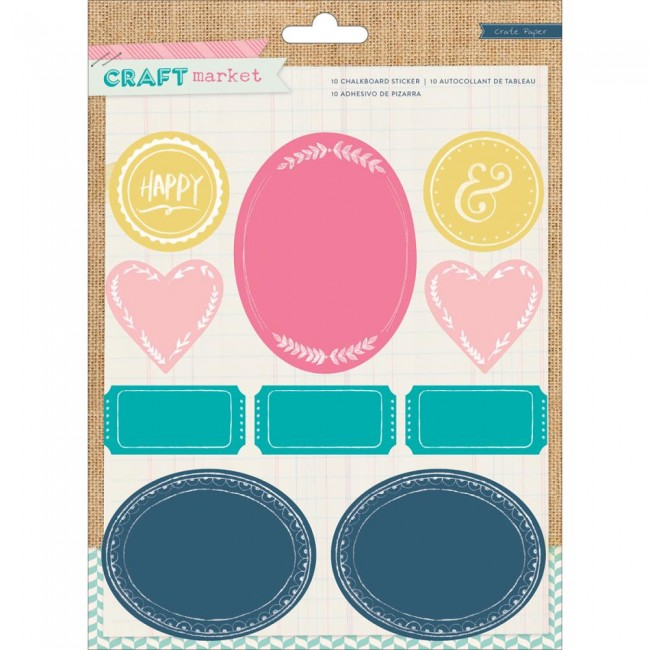 Craft Martket Colored Chalkboard Stickers