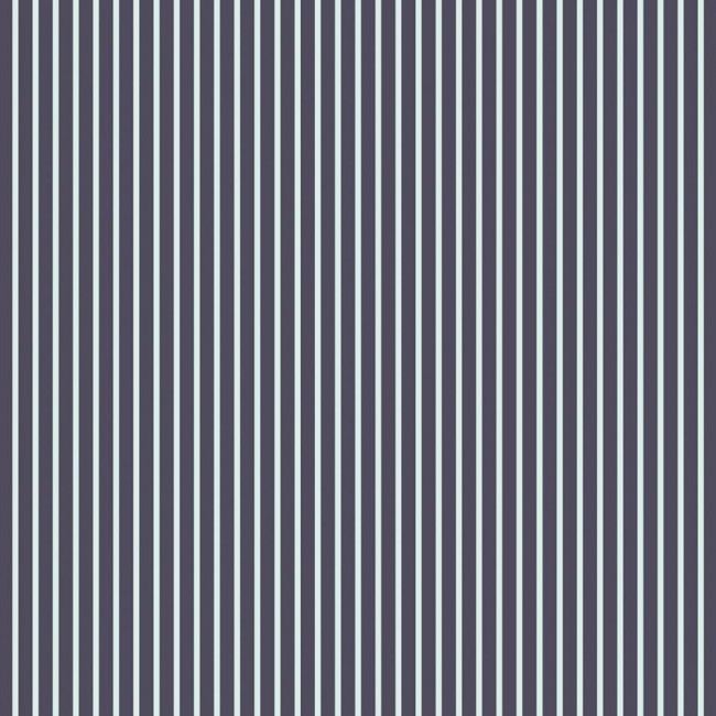 Papier Imprimé Recto 12x12 - Denim Blue - Mint Stripe