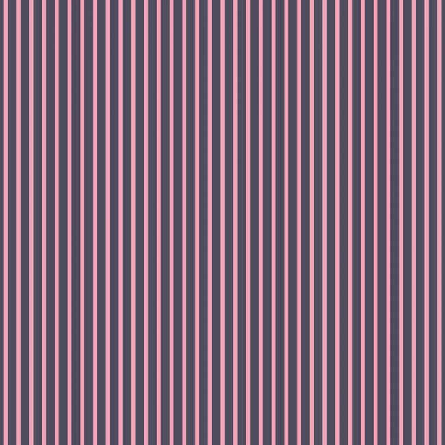 Papier Imprimé Recto 12x12 - Denim Blue - Pink Stripe