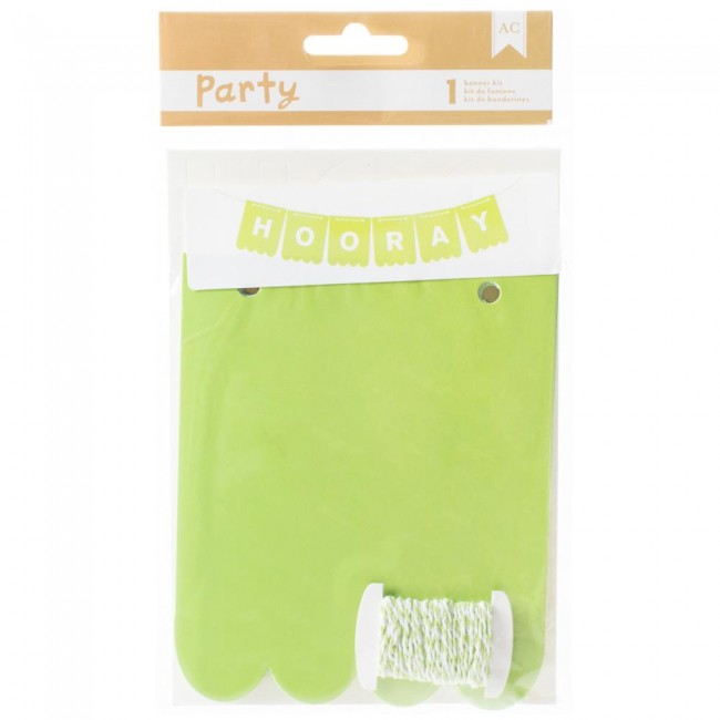 Green & White Party Banner Kit