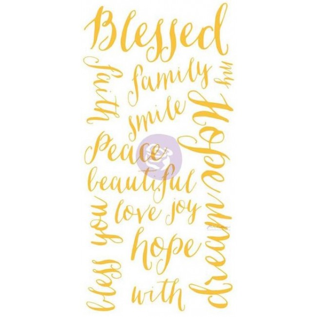 Blessed Words Adhesive Rub-Ons