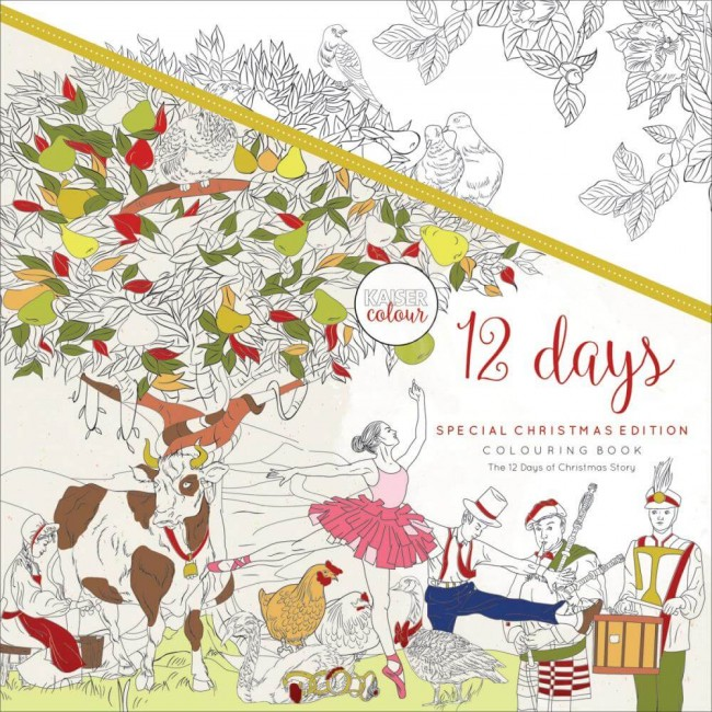 Livre de coloriage KaiserColour 12 Days Of Christmas