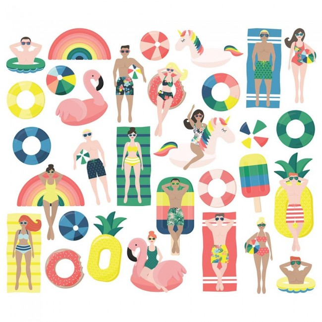 Die Cuts Sunshine & Blue Skies Pool People