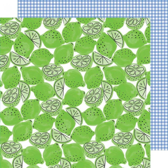 Papier Imprimé Recto-verso 12x12 Stay Sweet Lime Light