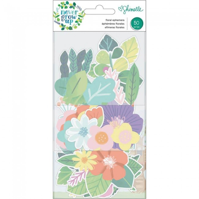 Die Cuts Never Grow Up Shimelle Floral