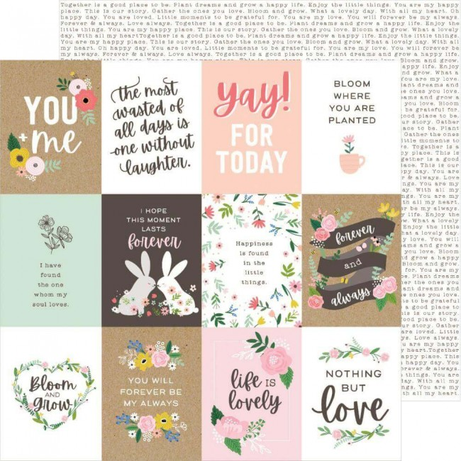 Papier Imprimé Recto-verso 12x12 Lovely Moments Lovely Quotes