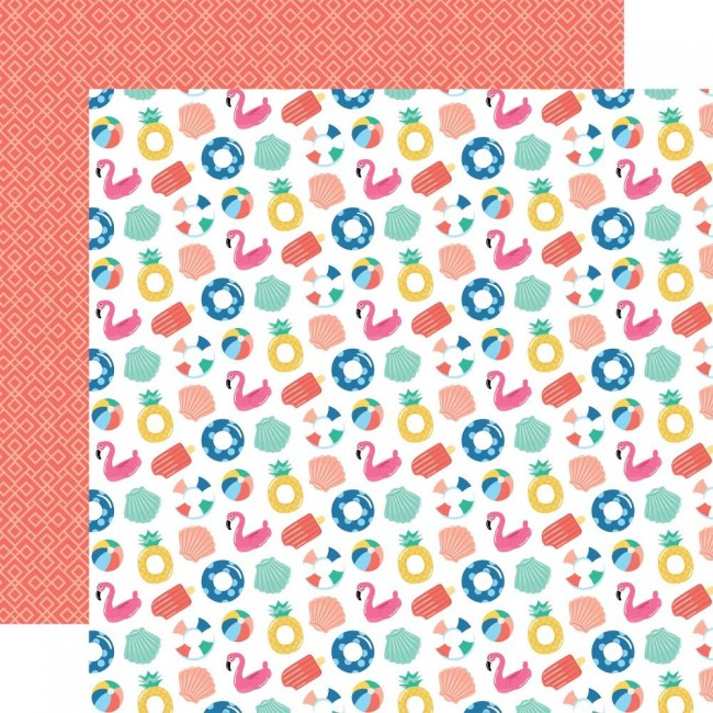 Papier Imprimé Recto-verso 12x12 Dive Into Summer Fabulous Floaties