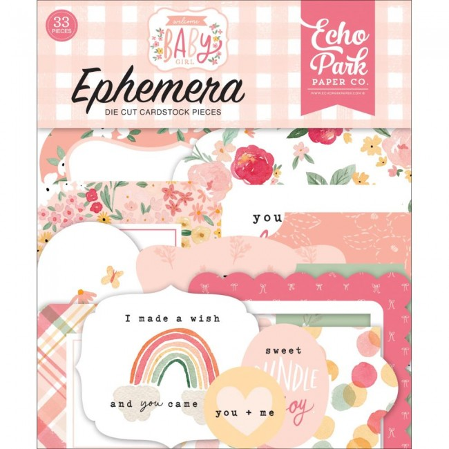 Die Cuts Welcome Baby Girl icons